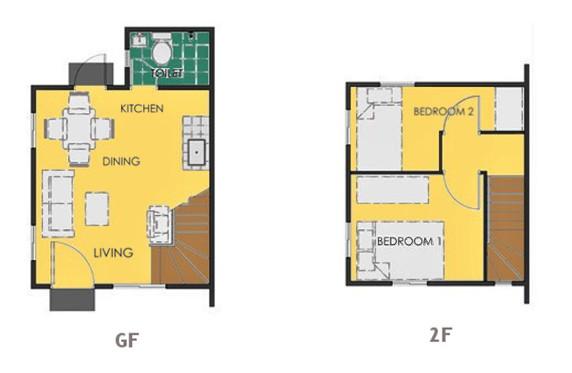 Ravena Floor Plan House and Lot in Aklan