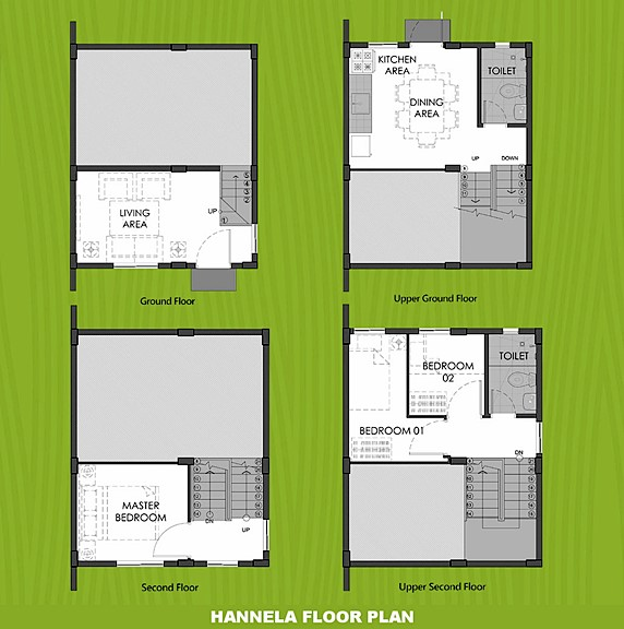 Hannela Floor Plan House and Lot in Aklan