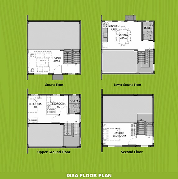 Issa Floor Plan House and Lot in Aklan