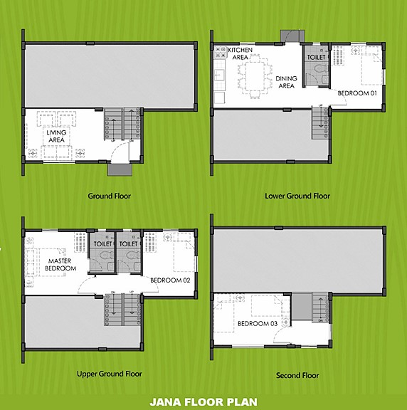 Janna Floor Plan House and Lot in Aklan