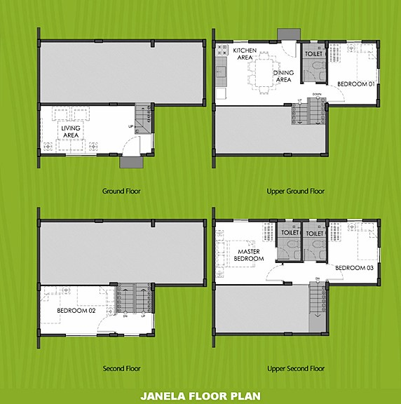 Janela Floor Plan House and Lot in Aklan