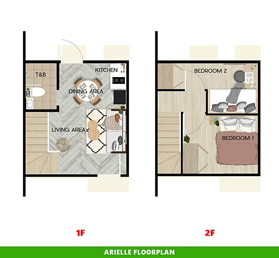 Arielle Floor Plan House and Lot in Aklan