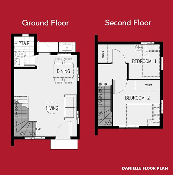 Danielle Floor Plan House and Lot in Aklan