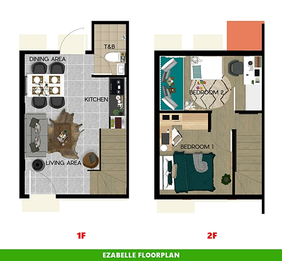 Ezabelle Floor Plan House and Lot in Aklan