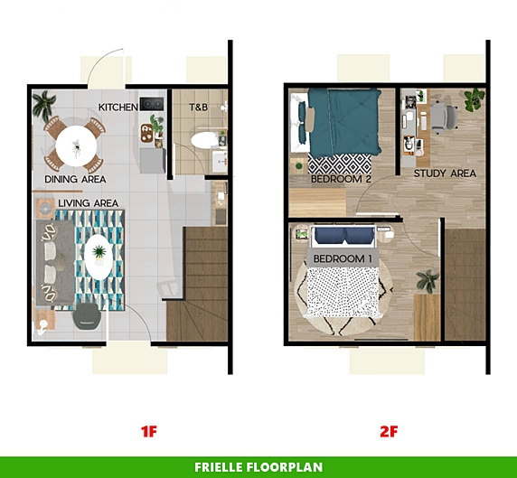 Frielle Floor Plan House and Lot in Aklan